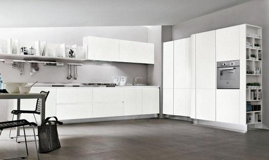 Idee da copiare per scegliere e arredare una cucina bianca for Cucina moderna bianca lucida