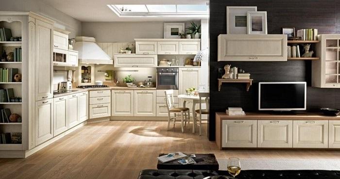 immagini di cucina e soggiorno insieme ~ dragtime for . - Cucina Soggiorno Unico Ambiente Classico 2