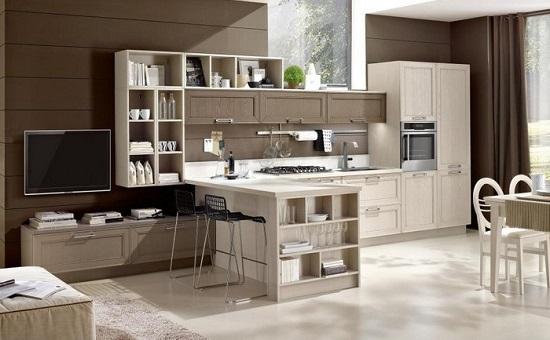 Soluzioni d\'arredo per far convivere cucina e soggiorno