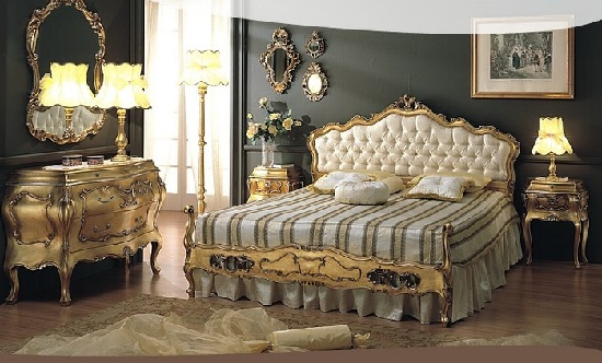 Come arredare la camera da letto in stile retr - Camere da letto stile barocco ...