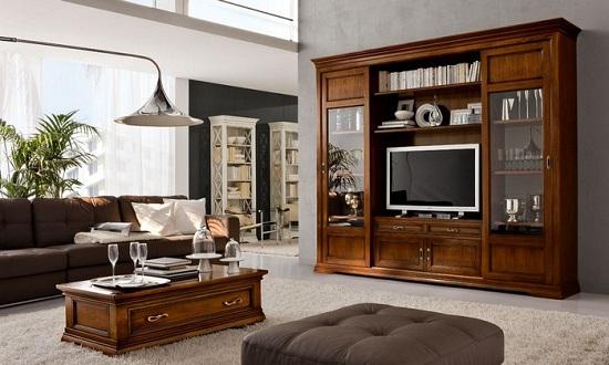 Come scegliere la parete attrezzata in una casa dallo stile classico - Parete attrezzate classiche ...