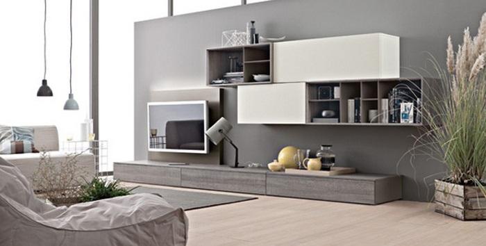 Scegliere la parete attrezzata in stile moderno idee e Soggiorno stile moderno