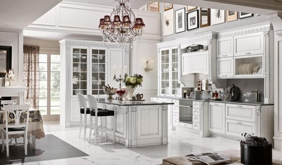 cucina total white lecce