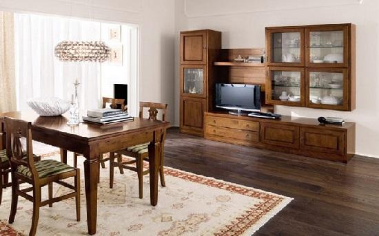 parete legno classica