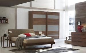 camere letto legno contemporaneo